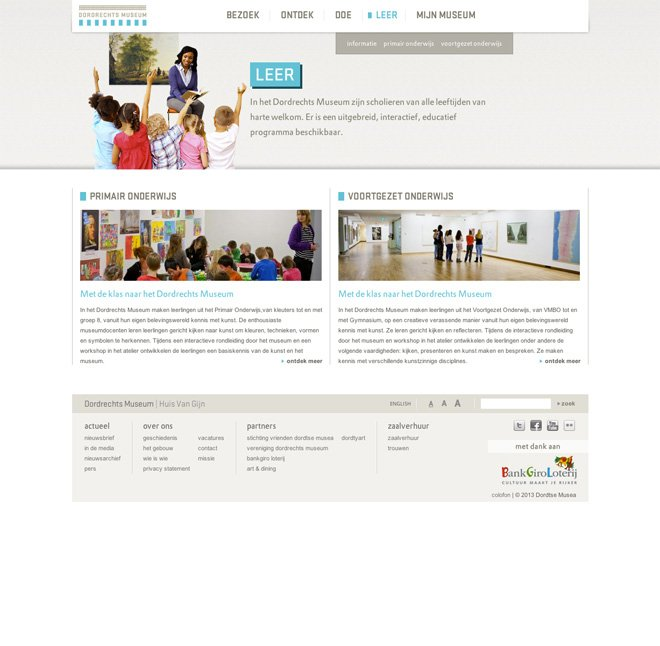 Dordrechts Museum learn page